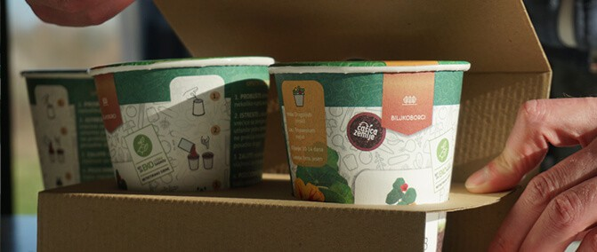 Biljkobox S  | 2 čašice